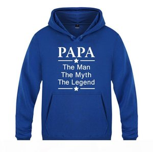 Fathers Day Gift Mens Hoodies Papa The Man The Myth The Letter Print Male Sweatshirts