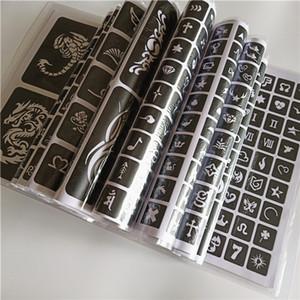 20 Sheet 516 Maps Professional Waterproof Henna Tattoo Templates Temporary Glitter Airbrush Tattoo Hand Finger Drawing