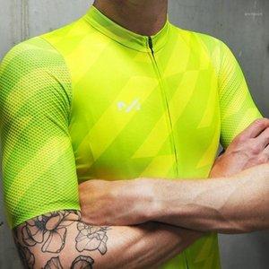2021 Yaz Bisiklet Jersey Erkekler Soutest Bisiklet Sürme Giyim Hava Mesh Kısa Kollu Bisiklet Gömlek Yeşil MTB Yarış Giysileri Coolmax1