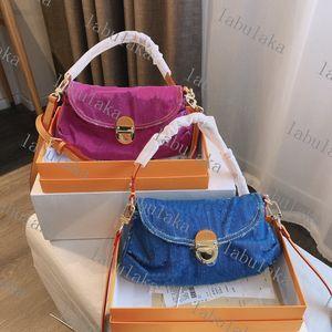 Storia di lunga durata Le borse di mezza età del denim sembrano borse a base di ascelle alla moda e versatili delle donne delle donne borse a tracolla di alta qualità