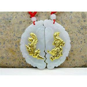 Discount Hot Sales Dragon New Design Necklace Pendants High Quality Jade 2 Pieces LJ201016