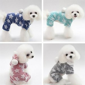 5 Size dog costume fashion star pet clothes high quanlity teddy poodle autumn winter warm dog apparel 4 color wholesale
