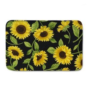 UpetStory Kreative Sonnenblumen Gedruckt Home Eingang Fußmat Rutschfeste Badezimmer Teppichboden Matte Aquarell Malerei Tür MAT1