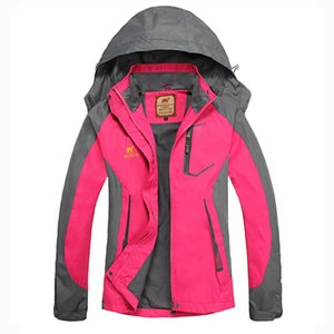 Women Windproof Outdoor Camping Hiking Climbing Jacket Coat Top Outwear Windbreaker Sports Apparel Tracksuit Athletic Blazers Q1202