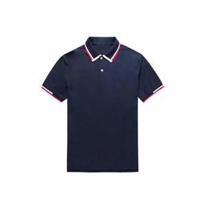 Männer Polos Halsausschnitt Colorblock Top Qualität Männer Kurzarm Krokodil Hemden Sommer 100% Baumwolle Gelegenheitshemd Für Männer Mode Homme1