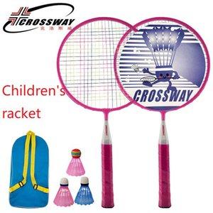 2 قطع الاطفال مضارب المهنية مجموعة الأطفال مضاعفة مضرب التيتانيوم سبائك الأخف بلعب badminton wholesa z1202
