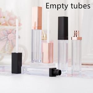 50pcs 립글로스 튜브 도매 화장품 빈 컨테이너 대량 5ml 병 개인 로고 사용자 정의 포장 OEM 자신의 브랜드 만들기