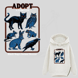 New Europe Retro ADOPT A FAMILIAR patches for jackets Diy T-shirt sweater Dresses jeans stickers on clothes