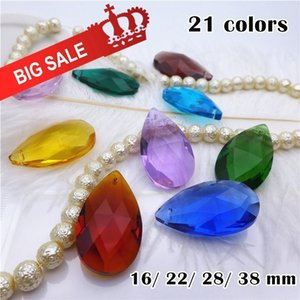 pear shape pendant crystal water drop bead 16 22 28 38 mm earring necklace diy accesories mix color chandelier glass lamp part 200930