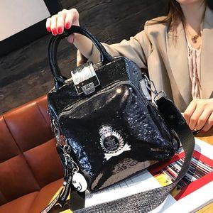 Strass Handtaschen 2021 Frauen Tote Rivet Leder Schulter Eine Tasche High Ita Big Sack Bolso Qualität Handtasche Tasche Diamant Addwi