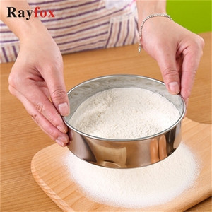 Kitchen Stainless Steel Flour Sieve Accessories Tools Cake Cookie Baking Home Gadget Party Decorating Mesh Colander
