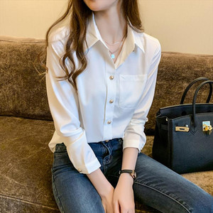 Summer Womens Classic Chiffon Blouse Solid Color Elegant Casual Office Blouses Tops Drop Shipping Good Quality