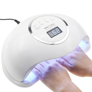 72W NEW5 PLUS Dual UV LED Nail Lamp Nail Dryer Gel Polish Curing Light with Bottom Timer LCD Display Lamp For Nails Nail Dryer Q1123