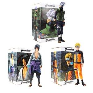 3styles Anime Figures Uzumaki Naruto Uchiha Sasuke Hatake Kakashi PVC Action Figure Collectible Model Toys Gift For Kids Y200421