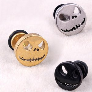 Fashion Jewelry 1Pcs Skull Ghost Face Fake Ear Stud Retro Gothic Punk Style Earrings Women Gifts 3 Colors