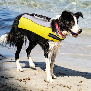 Dog Life Jacket Vest Inflatable Safety Clothes Swimming Preserver Reflective Pet Swimwear Harness For Small Medium Large Dogs 201026