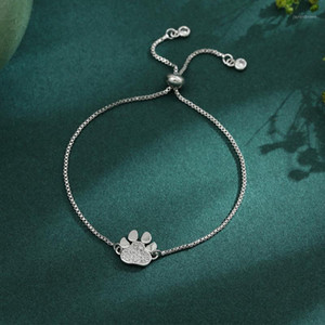 316 Stainless Steel Dog Cat Charm Chain Link Adjustable Bracelet Simple Design Cheap Braclet Jewelry for Dog Cat Lover1