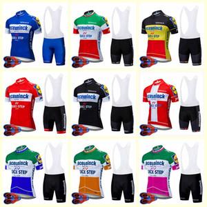 2020 Quick Step Team Велоспорт Короткие рукава Джерси Шорты Установить Летнее Дышащая Дорога Велосипеда Одежда ROPA Ciclismo U20042008
