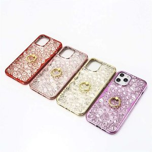 Bling Soft TPU Case Rhinestone Case Ring Kickstand Cell Phone Case For iPhone12 pro max 12pro 11promax 11pro Xs Xr 8Plus 7G 8G