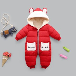 New born Baby girl coat Winter Hooded mantle Rompers Thick Warm Jumpsuit Overalls Snowsuit Children Boy Clothing kids clothes LJ201023