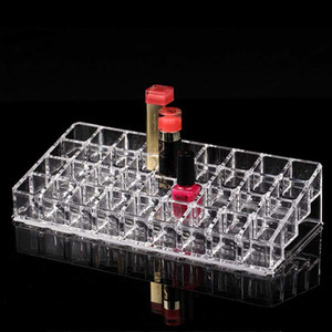 Fashion 36 Grids Acrylic Lipstick Holder Cosmetic Storage Box Makeup Organizer Sundries Display Box Free Shipping Z1123