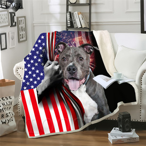 CLOOCL Animal Funny Dog 3D Print Harajuku Air Conditioning Blanket Sofa Teens Bedding Throw Blankets Plush Quilt