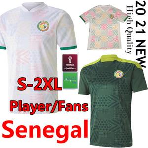 2020 2021 세네갈 축구 유니폼 플레이어 버전 국립 축구 Mane Koulibaly Gueye Kouyate Sarr Homme Maillot 드 발 축구 유니폼