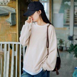Nini wonderland 2020 herbst casual vintage sweatshirt weibliche patchwork koreanische stil pullover kleidung kurze sweatshirt frauen