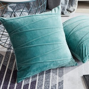 Topfinel Velvet Striped Decorative Pillows Throw Pillow Cover Cases Pillowcases Cushion Covers For Home Sofa Seat Chair 45x45cm