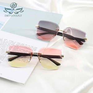 Óculos de sol 2021 tendência doce mulheres homens marca design original espelho casual óculos de sol moda sem aro feminina óculos
