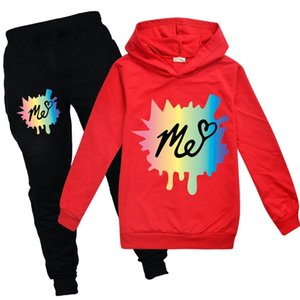 Moriah Elizabeth fashion colour clothes Letters kids hoodie + pants sets girls Hoodies baby boys jogger set christmas outfit Y1117