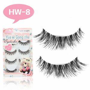 5Pairs Set Natural Black Long Sparse Cross False Eyelashes Thick Fake Eye Lashes Eyelash Extensions Eyes Makeup Cosmetic Tool