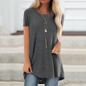 5xl Plus Size Tunic blouse women Summer 2020 Flower Print Clothes Round Neck Short Sleeved Long Shirt Blouse