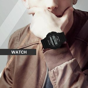 Наручные часы Водонепроницаемые мужские Часы Мода Повседневная Цифровые Спортивные Спортивные Часы Мужчины Многофункциональный Студент Запястье
