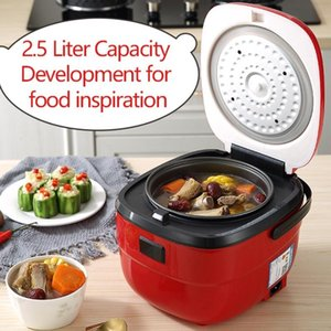 Familienreiskocher Elektrische 2,5l 400W Multifunktionale Elektrische Reiskocher Multicooker-Suppe Babybrei-Joghurt-Kuchenhersteller