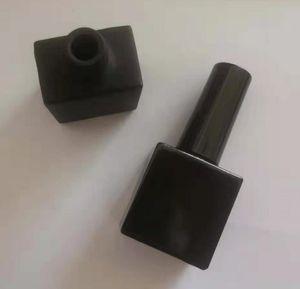 200pcs 10ml Empty Black Square Nail Polish Bottle &Small Brush Nail Art Container Glass Nail Oil Bottles