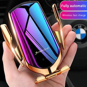 2020 New Product Fashion Portable R1 Phone Holder 10W Car Wireless Charger Charging Qi Wireless Car Charger Automatic Clamping R1 Car Holder