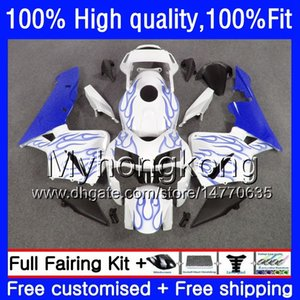 100% Fit For HONDA CBR600F5 CBR600 RR CBR600RR 05 48HM.217 CBR 600RR CBR 600 CC RR 600CC F5 Blue flames 05 06 2005 2006 Injection Fairings