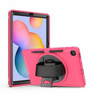 """Caso à prova de choque para Samsung Tab S6 Lite 10.4 P610 P615 2020 10.5 """"T860 / T865 / T867 S7 11"""" T870 / T87 Tablet Pen Strap Hand Slot"""