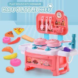 Cuisine Cuisine Jouets Mini Cuisson Pretend Play Jouet Toy Vaisselle Set Simulation Play House Chef Puzzle Toys pour Garçon Cadeaux