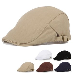 Ear Flap Cotton Flat Men Spring Winter Warm Beret Muff British Vintage Adjustable Casual Male Gatsby Hat DHD1400