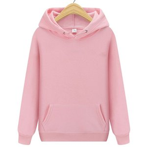 Fashion White Men Hoodies Hip Hop Streetwear Casual women Hoodies Sweatshirts Elasticity Solid Color Fleece Thick Warm Threaded Cuffs