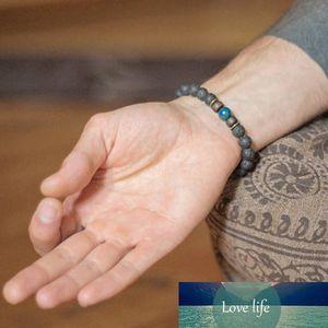 Mcllroy Lava Natural Stone Beads Bracelets for Women Vintage Tibetan Buddha Volcanic Rock Strand Bracelet Men Jewelry Gifts 2019