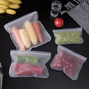 S / M / L EVA Food Storage Bag Contenitori Contenitori Frigorifero Food Sacchetto fresco Fresco Frutta riutilizzabile Borse di tenuta di verdure Cucina Organizer Sacchetto