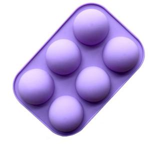 Bola esfera de silicona Molde de silicona Hornear de chocolate Moldes de pastel redondo Pastelería PABLA DE PANTALLA FORMULARIO PUDING JELO JABOLO PAN MOLDO DE CARAMELO GGD3836