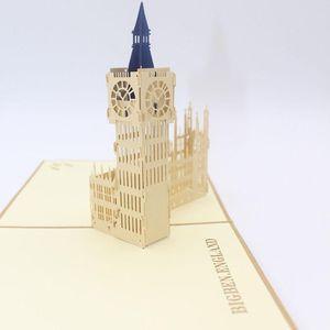 3d Laser Cut Handmade Retro Big Ben Paper Invitation Greeting Cards Postcard Business Kids Birthday Gift Souvenir Collection jllNvk