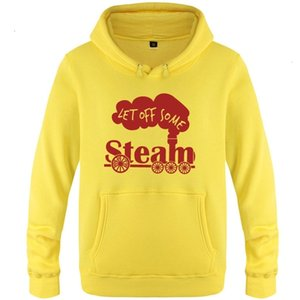 Steam hoodies Let off some fleece Cool clothing Warm tops Colorfast print coat Brushed cotton jacket Colorfast sweatshirts 4Q1Z