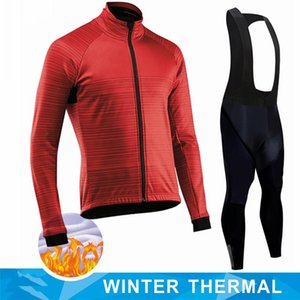 NEW 2021 Cycling Jersey Winter Thermal Fleece Cycling Clothing Windproof Waterproof Bicycle Reflective Jacket Sportswear
