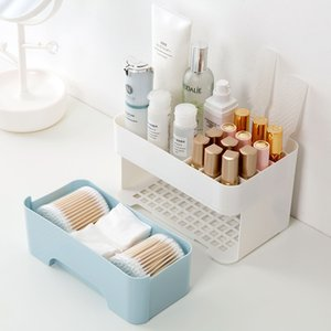 YiCleaner Plastic Storage Box Cosmetics Organizer Drawer Lipstick Nail Polish Holder Makeup Storage Container Case Bathroom Box Z1123