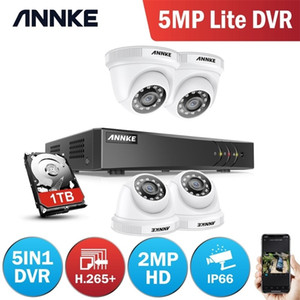 Annke 4ch 1080P Lite CCTV نظام 1080P DVR كيت 4 قطع 2.0MP كاميرات الأمن في الهواء الطلق نظام الأشعة تحت الحمراء ليلة فيديو مراقبة كيت LJ201209
